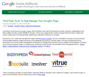 Third Party Tools To Help Manage Your Google+ Page