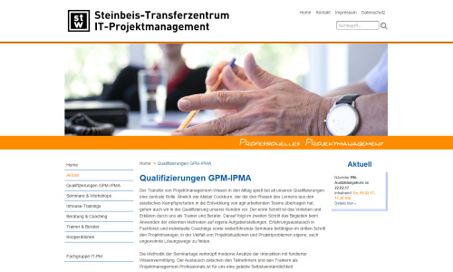 Steinbeis-Transferzentrum IT-Projektmanagement